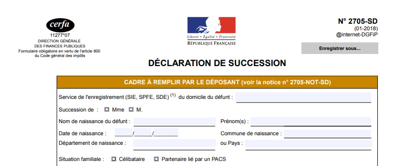 droit de succession maison